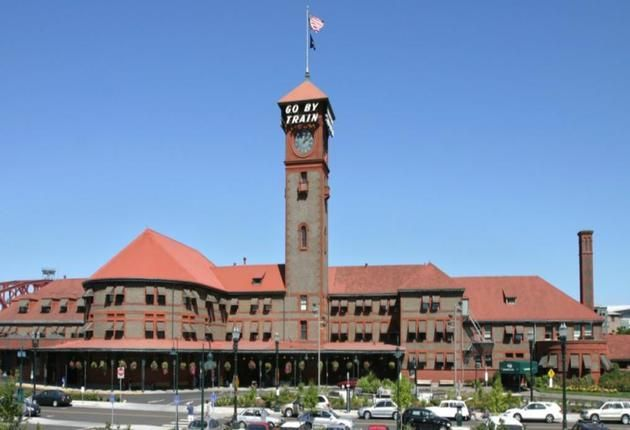 Eclectic office space in Union Station near the west shore of the Willamette River, $350