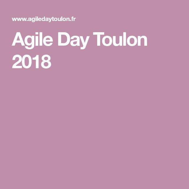 Agile Day Toulon 2018