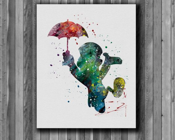 Jiminy Cricket Pinocchio disney   watercolor by digitalaquamarine