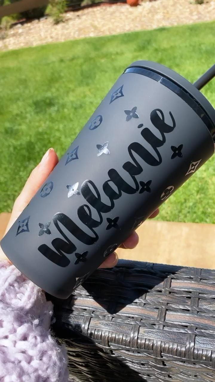 Starbucks Black Matte Cup [Video] | Custom tumbler cups ...