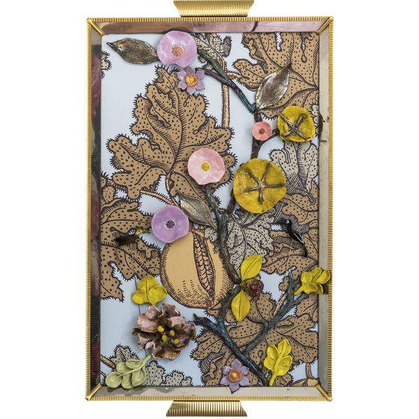 Zanellazine Frutto Proibito 3 Ceramic Collage ($490) ❤ liked on Polyvore featuring home, home decor, gold, ceramic tray, fruit tray, inspirational home decor and ceramic home decor