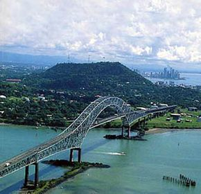 Bridge of Americas ~ spans the Pacific entrance to the Panama Canal. #Panama_City #Panama_Canal