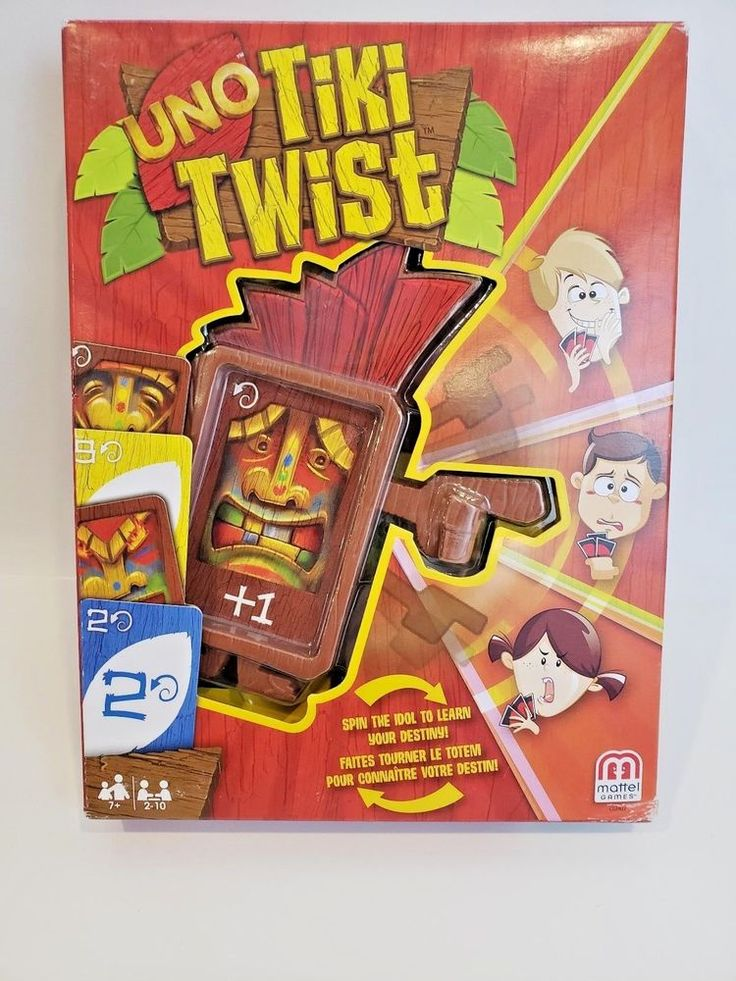 Uno Tiki Twist Card Game Mattel Complete With Box