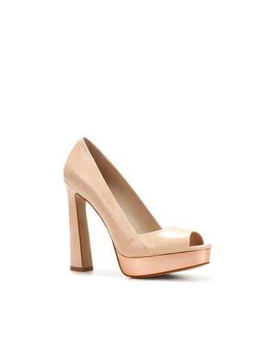 WIDE HEEL PEEP TOE - High-heels - Woman - Shoes - ZARA United States
