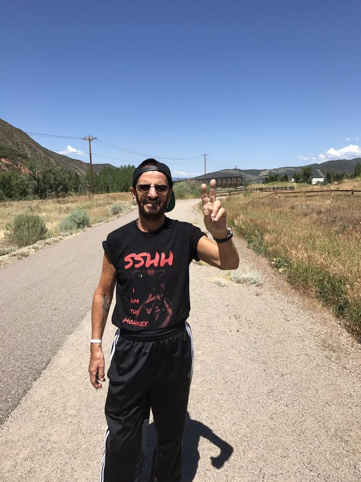 Ringo Starr on the road somewhere in Colorado
