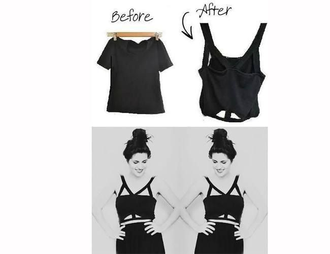27 DIY T-Shirt Cutting Ideas To Try On Your Old Outfits For New Look. Diy Crop  TopCrop ...