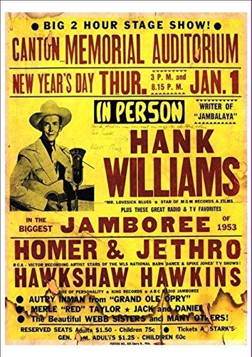 14 best country album art images on pinterest country music hank williams in the biggest jamboree of 1953 wonderful a4 glossy print taken fandeluxe Choice Image