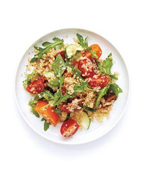 Tomato, Cucumber, and Quinoa Salad recipe from realsimple.com #MyPlate #veggies #grains #wholegrains