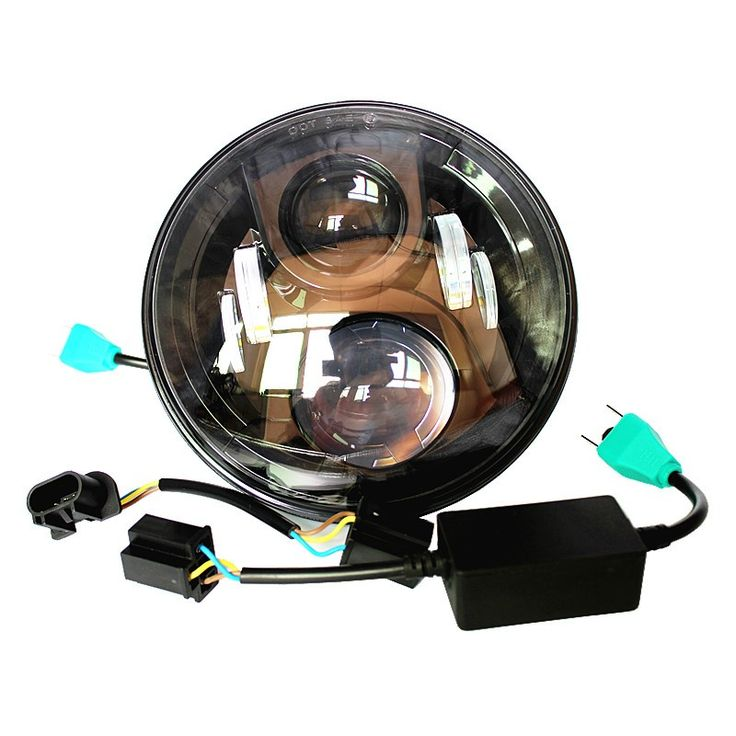 """Pair 50W 7"""" LED Headlight Kit 12V 24V Daymaker Projector Waterproof Replace H6024 and PAR56 for Jeeep car Accessories Harley"""