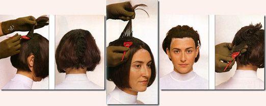 Процесс нанесения хны на волосы