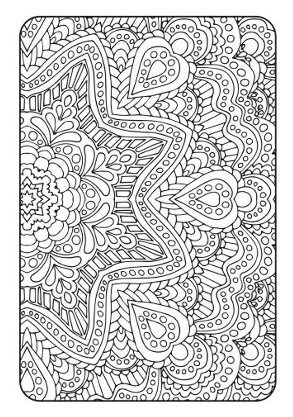 image relating to Free Printable Coloring Pages for Adults Pdf named Grownup Coloring Ebook Artwork Treatment method Quantity 2 - Printable PDF