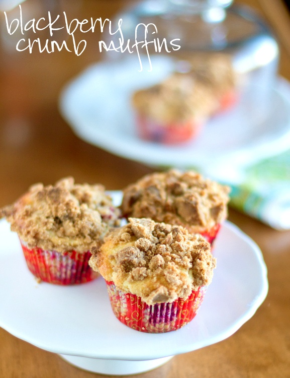 Blackberry Crumb Muffiins | Yummy can't haves | Pinterest