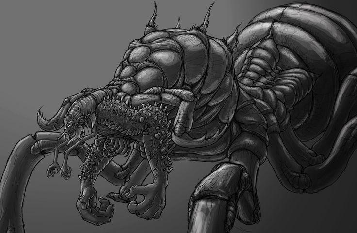 Antman - not the one from the film, Peter Kneeshaw on ArtStation at https://www.artstation.com/artwork/8mk5x