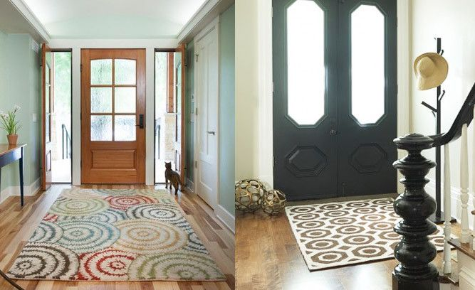 Foyer And Entryways Usa : How to choose an area rug for your entryway the right