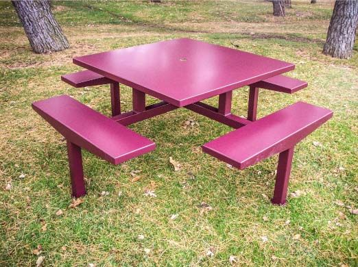 Best 25 Metal Picnic Tables Ideas Only On Pinterest