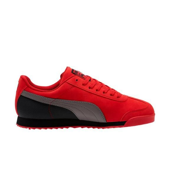 Puma Roma Nbk Red Grey Men S Shoe Hibbett City Gear Mens Grey Shoes Addidas Shoes Mens Mens Puma Shoes
