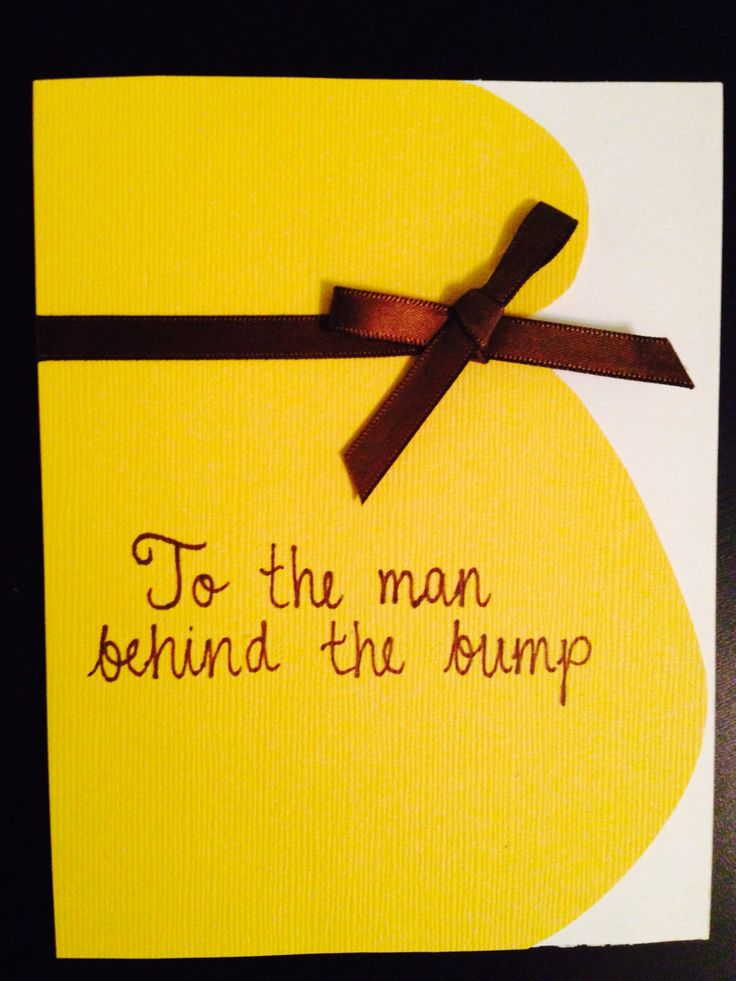 Father's Day card while pregnant, first, pregnancy, bump