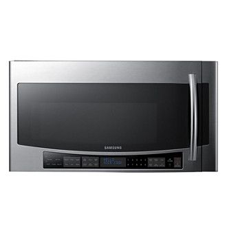 SAMSUNG SMH2117S 2.1 cu.ft Over the Range Microwave Stainless Steel