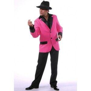 Déguisement veste deluxe rose pink homme, Déguisement rock'n roll, danse, années 60's, fêtes, Magic by Freddy's.