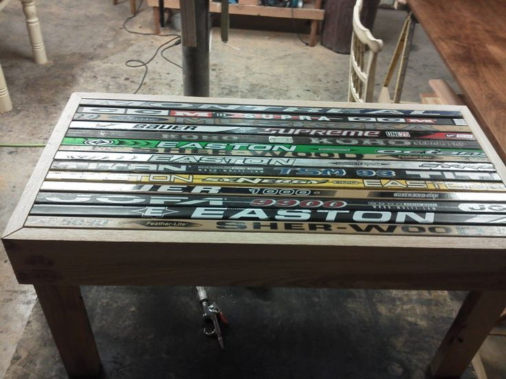 Image result for hockey stick coffee table