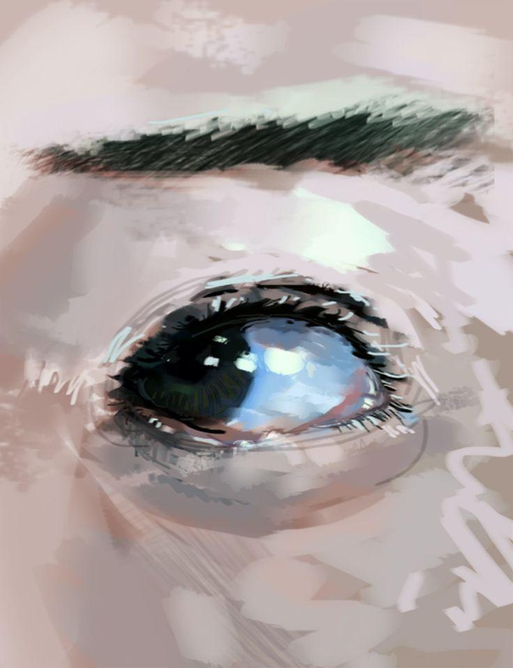 I C E Y E design sketch photoshop draw painting art eyes