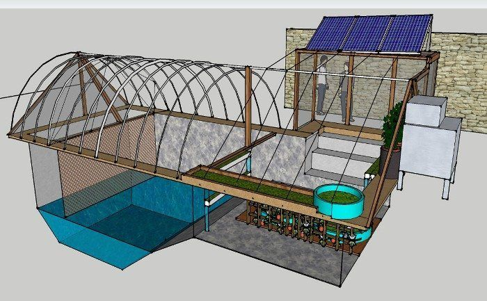Cabins archives off grid world for Swimming pool converted to greenhouse