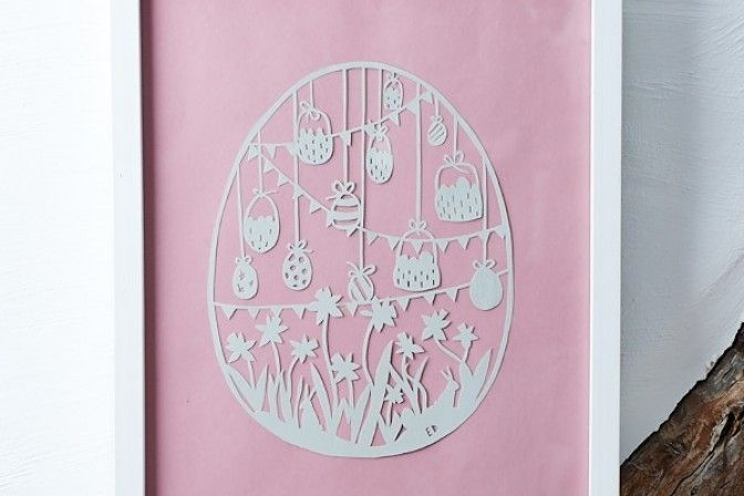Download our papercut egg template