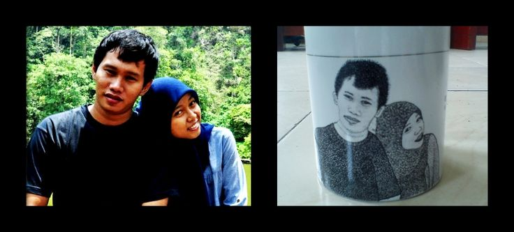 pointilis painting mug #couple #3