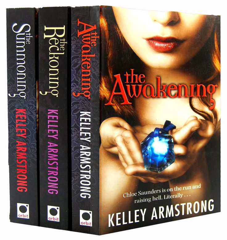 "Kelley Armstrong's The Darkest Powers Trilogy - ""My name is Chloe Saunders. I'm fifteen, and I would love to be normal. But normal is one thing I'm not. To start with, I can raise the dead. Yeah, definitely not normal. If that wasn't confusing enough, I'm having these feelings for a certain antisocial werewolf and his sweet-tempered brother - who just so happens to be a sorcerer - but, between you and me, I'm leaning toward the werewolf. See, I'm as far away from normal as it gets."""
