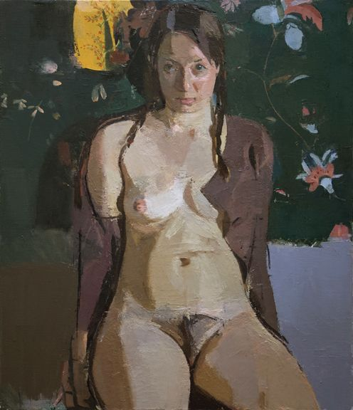 sangram majumdar, the actress, oil on linen, 32 x 26 in, 2009 (private collection)