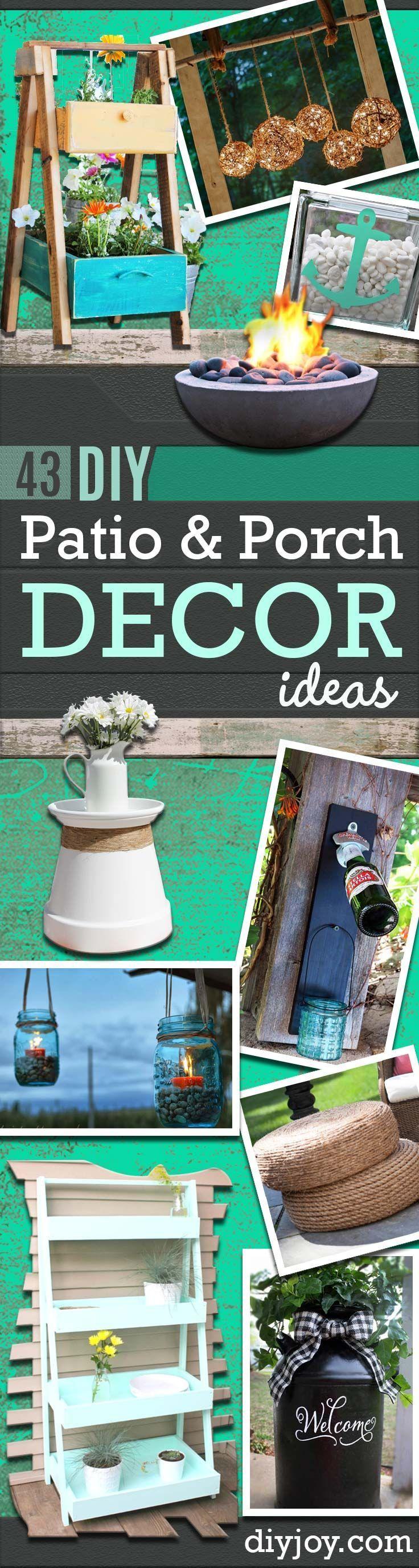 Diy patio decorating ideas - 43 Diy Patio And Porch Decor Ideas