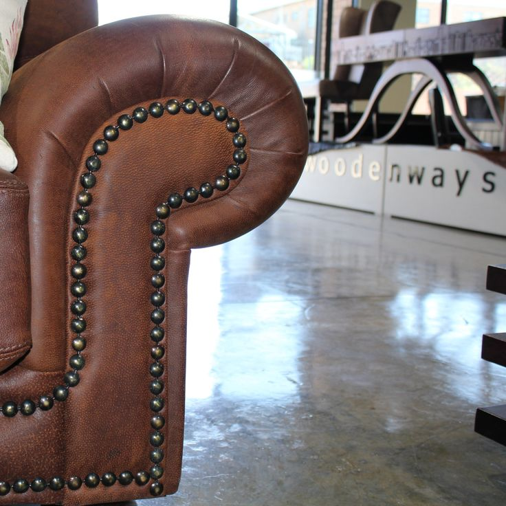 #Woodenways #Game skin #leather #sofas are hand stitched from the finest oryx #leather available in South Africa