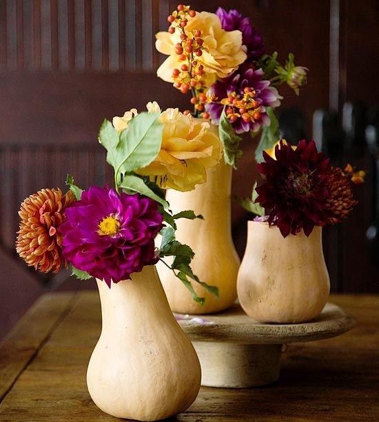 Love this // gourd arrangements