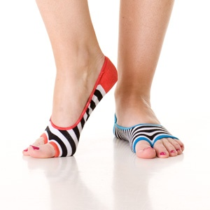 Stripe Sandal No Show Socks, by Little Miss Matched