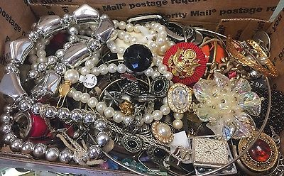 Vintage To Now Junk Drawer Jewelry Lot Unsearched No Reserve F