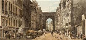 La Rue St Denis - Thomas Girtin