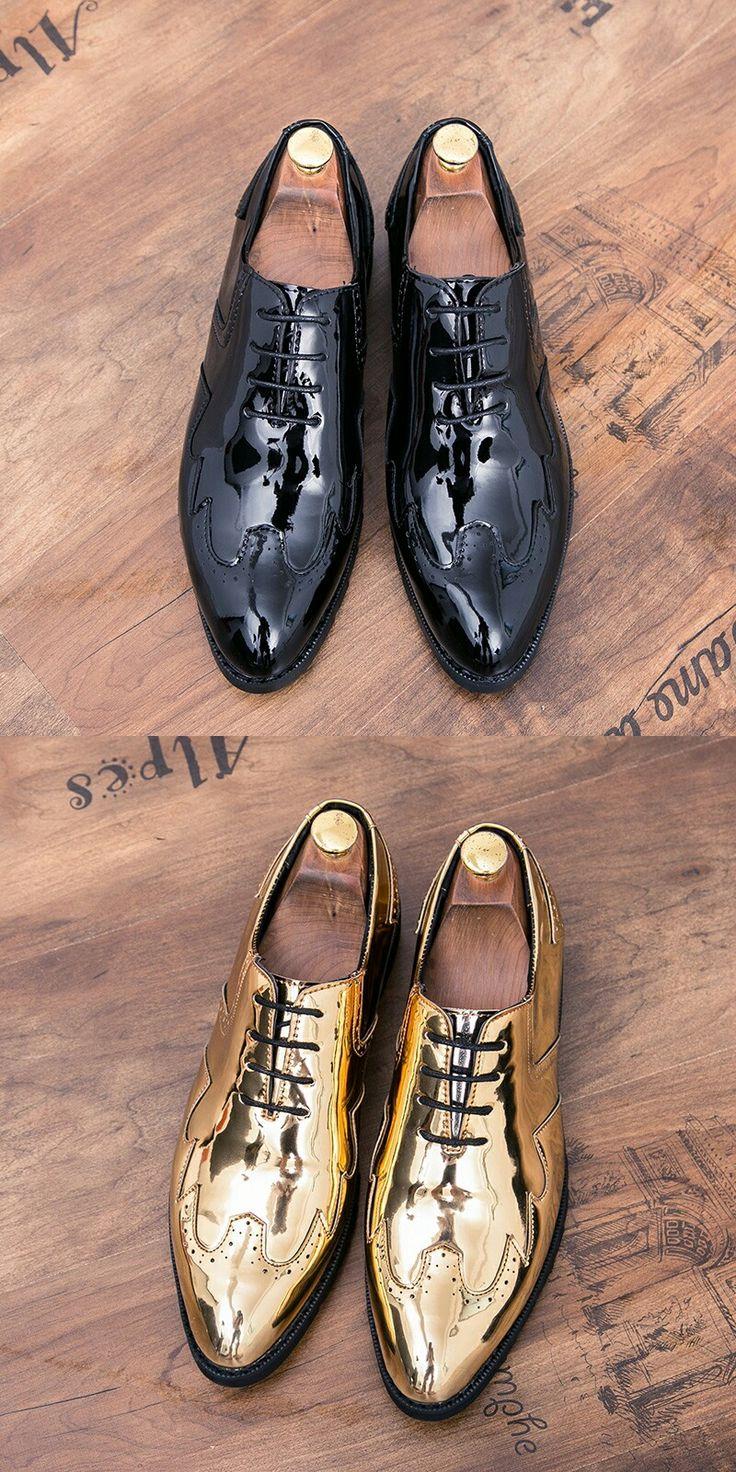 Vintage Design Men's Patent Leather Business Shoe