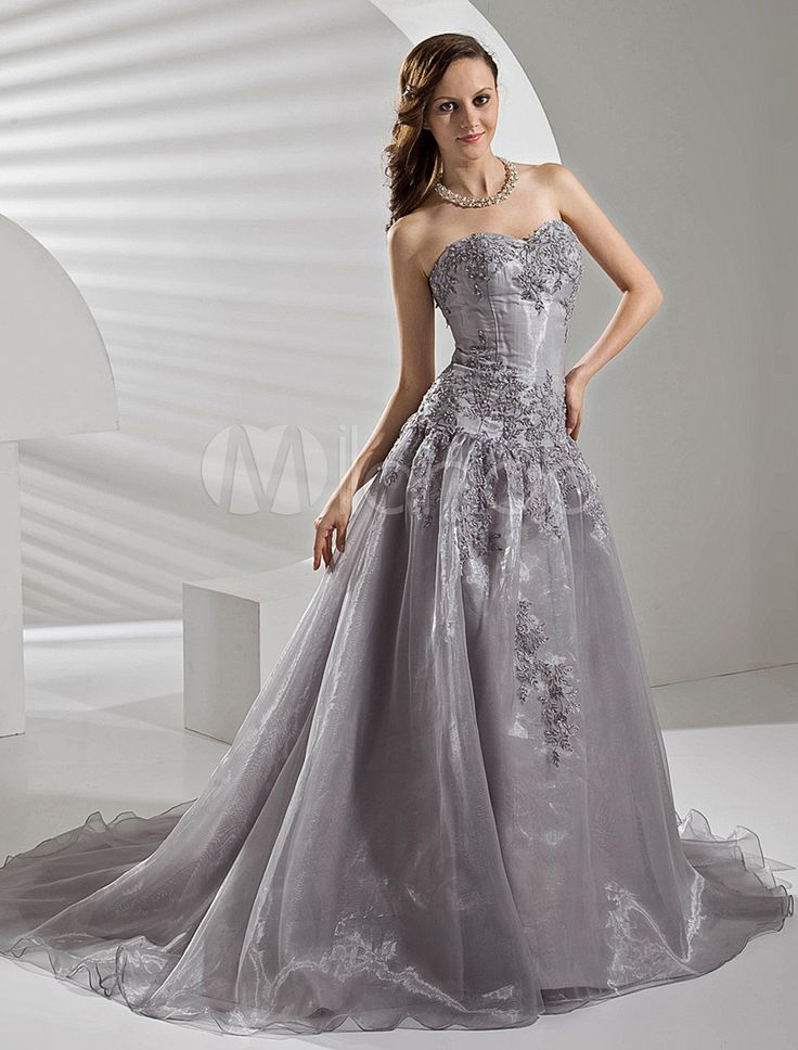 17 Best Images About Silver Wedding Dress On Pinterest