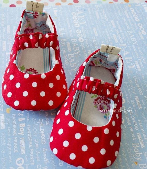 no 68 Cassie Baby Mary Janes PDF Pattern0-18 by sewingwithme1