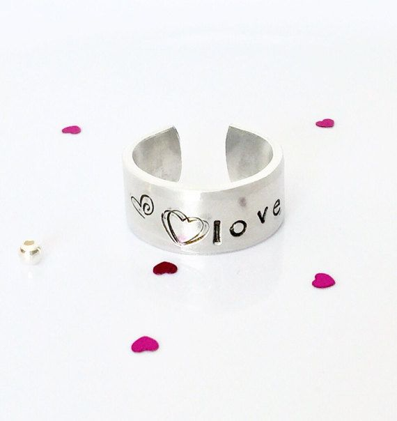 Valentines Ring Heart Ring Love Ring by AprilHyltonDesigns on Etsy