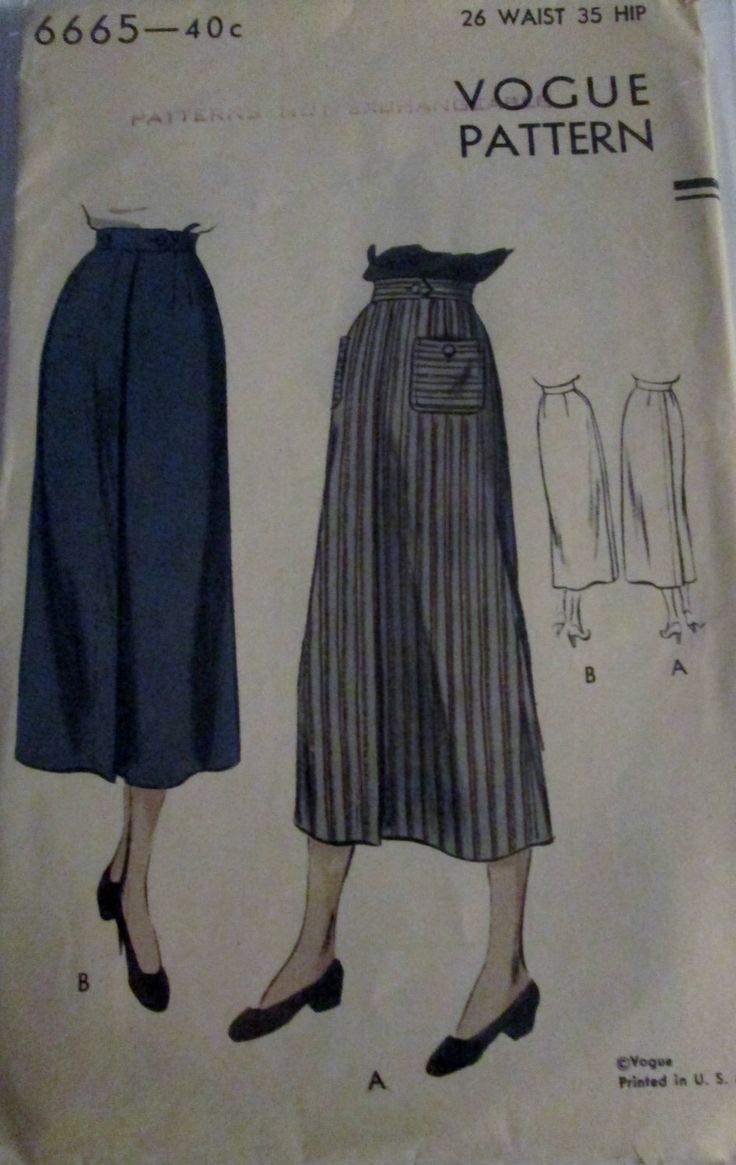 Vogue 6665 Vintage anni ' 40 lunga matita gonna Sewing Pattern anca 35 di Denisecraft su Etsy https://www.etsy.com/it/listing/171224009/vogue-6665-vintage-anni-40-lunga-matita