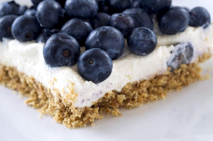 No-Bake Blueberry Cheesecake Bars Recipe - NYT Cooking :|: Toasted nut meal and flaked coconut as crust, not as thick. Can sub some or all of cream cheese with very well drained yogurt but add a bit of gelatin in that case may not be a bad idea.