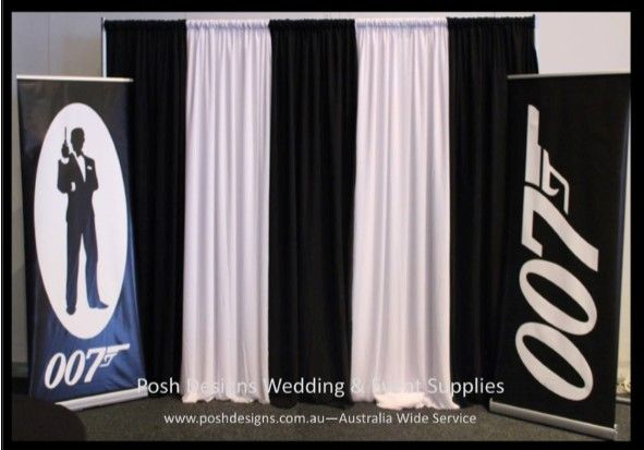 #blackandwhitebackdrop #blackandwhitedraping #corporate #event #theming available at #poshdesignsweddings - #sydneyfunctions #southcoastfunctions #wollongongfunctions #canberrafunctions #southernhighlandfunctions #campbelltownfunctions #penrithfunctions #bathurstfunctions #illawarrafunctions All stock owned by Posh Designs Wedding & Event Supplies – lisa@poshdesigns.com.au or visit www.poshdesigns.com.au or www.facebook.com/.poshdesigns.com.au