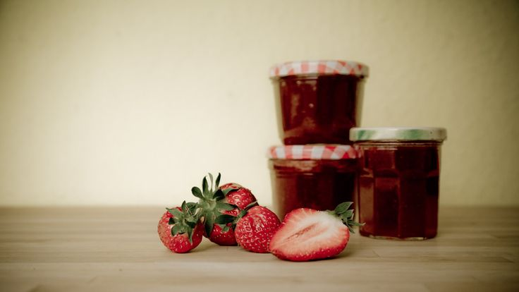 nice Strawberries and Strawberry Jam HD