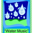 """WATER MUSIC!"" - WET FUN WITH TWO OUTDOOR GAMES!""  ""Plink!  Clink!  Plop!  Drop!  Plunk!  Sunk!""  Make a big splash with your Class Water Day!  Take your Music Class outdoors!  Put water sounds into a funny poem.  Then play a ""water symphony"" with high-low sounds!  Cups, glasses, marbles, and chopsticks are all you need!  Learn a friendship story about why Handel wrote his famous ""Water Music"".  Listen to this energetic music while you make your own Water Music!  Splashy good times!  (8…"