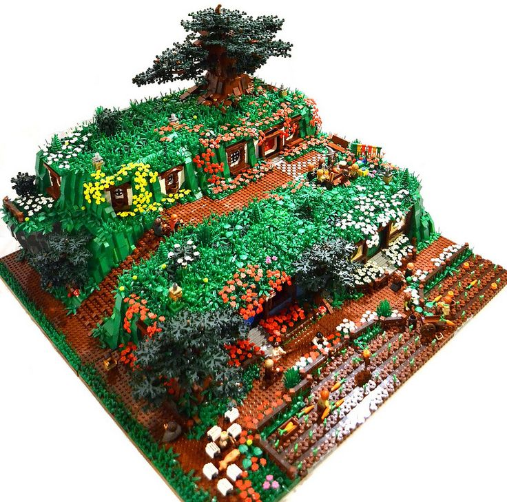 Five Movie Sets Recreated in LEGO [Featured] - Hobbit  LEGO