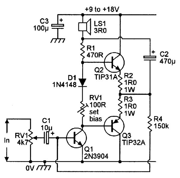 simple 1 watt amplifier