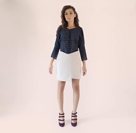 Navy blue oversize blouse /  oversized blouse / oversized top