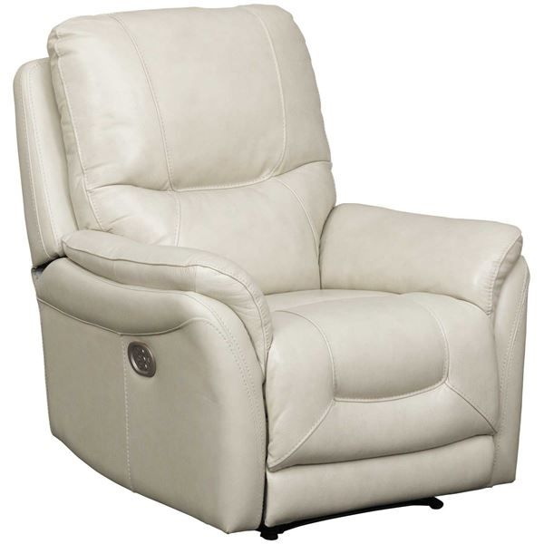 Relax In The Stolpen Cream Leather Power Recliner By Ashley Furniture Best Selection Lowest Prices Anywhere In Lea Recliner Power Recliners Leather Recliner