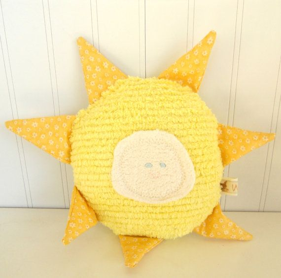 Waldorf Toy Eco Kids Toy Sun Natural EcoFriendly Pillow by woolies, $26.00
